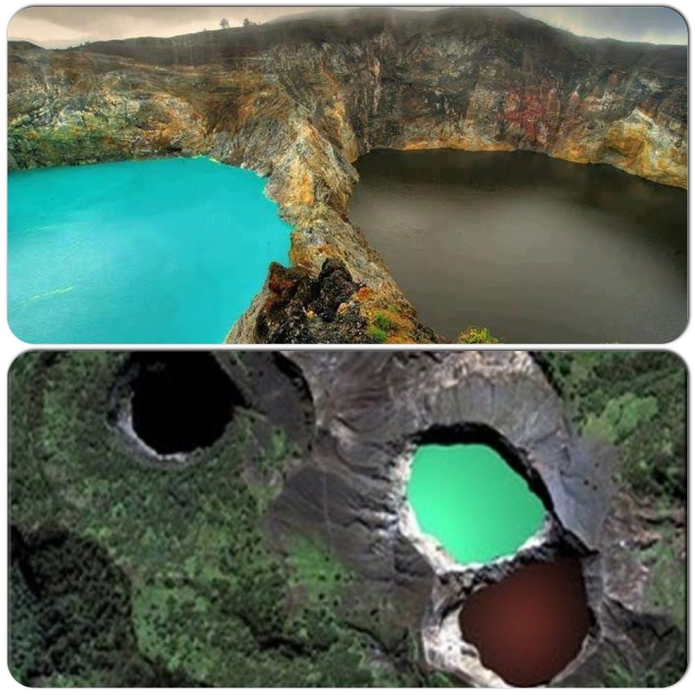 Colour changing lakes of Kelimutu of Indonesia