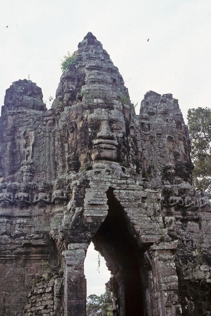 Mystery Of Face In Stone; Bayon Temple In Combodia